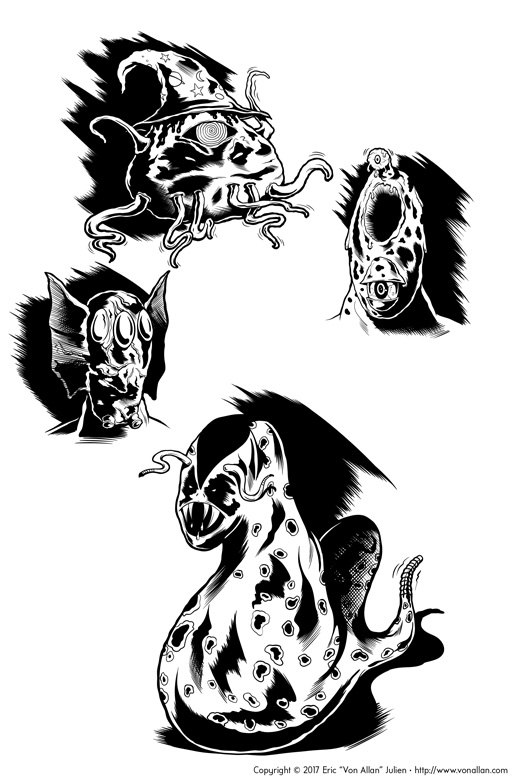 Dungeon monsters by Von Allan