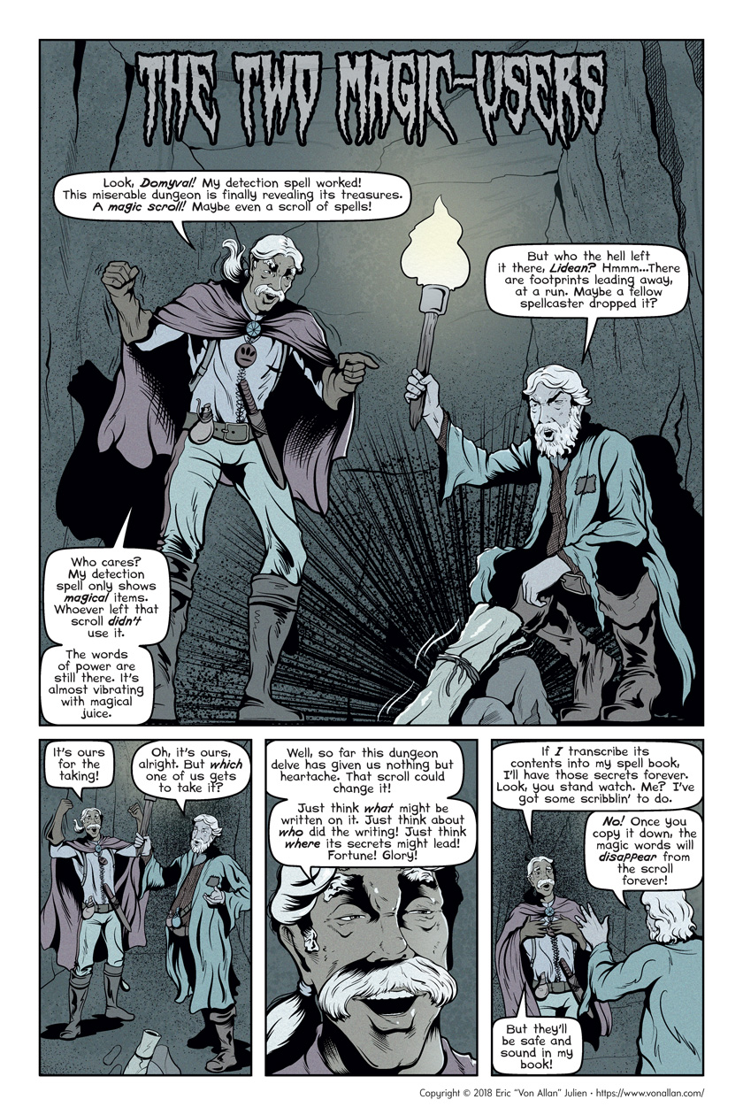 Short Story - The Two Magic-Users | Von Allan's art, comics and