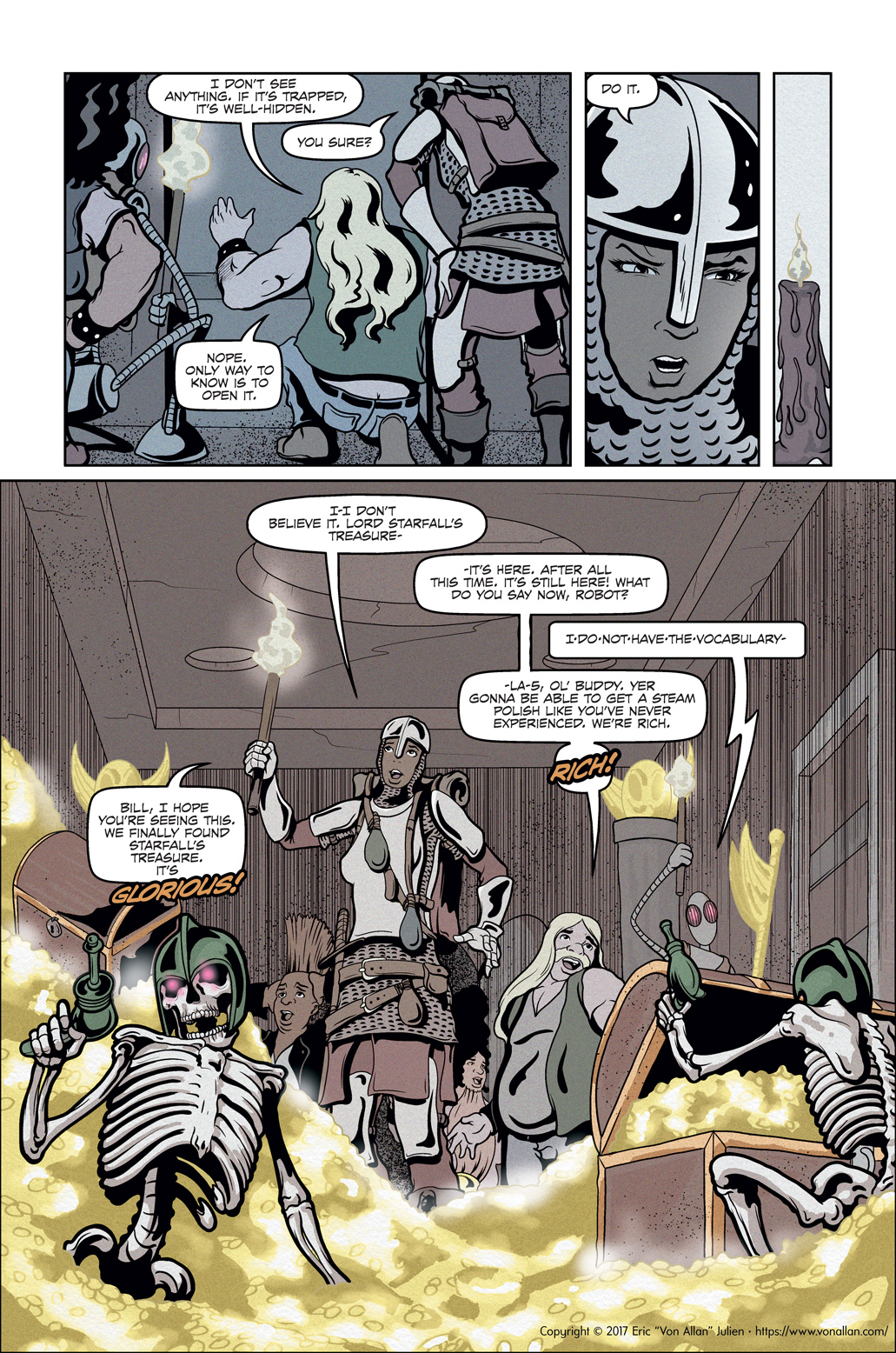 Page five of the comic book short story Total Party Kill written and illustrated by Von Allan