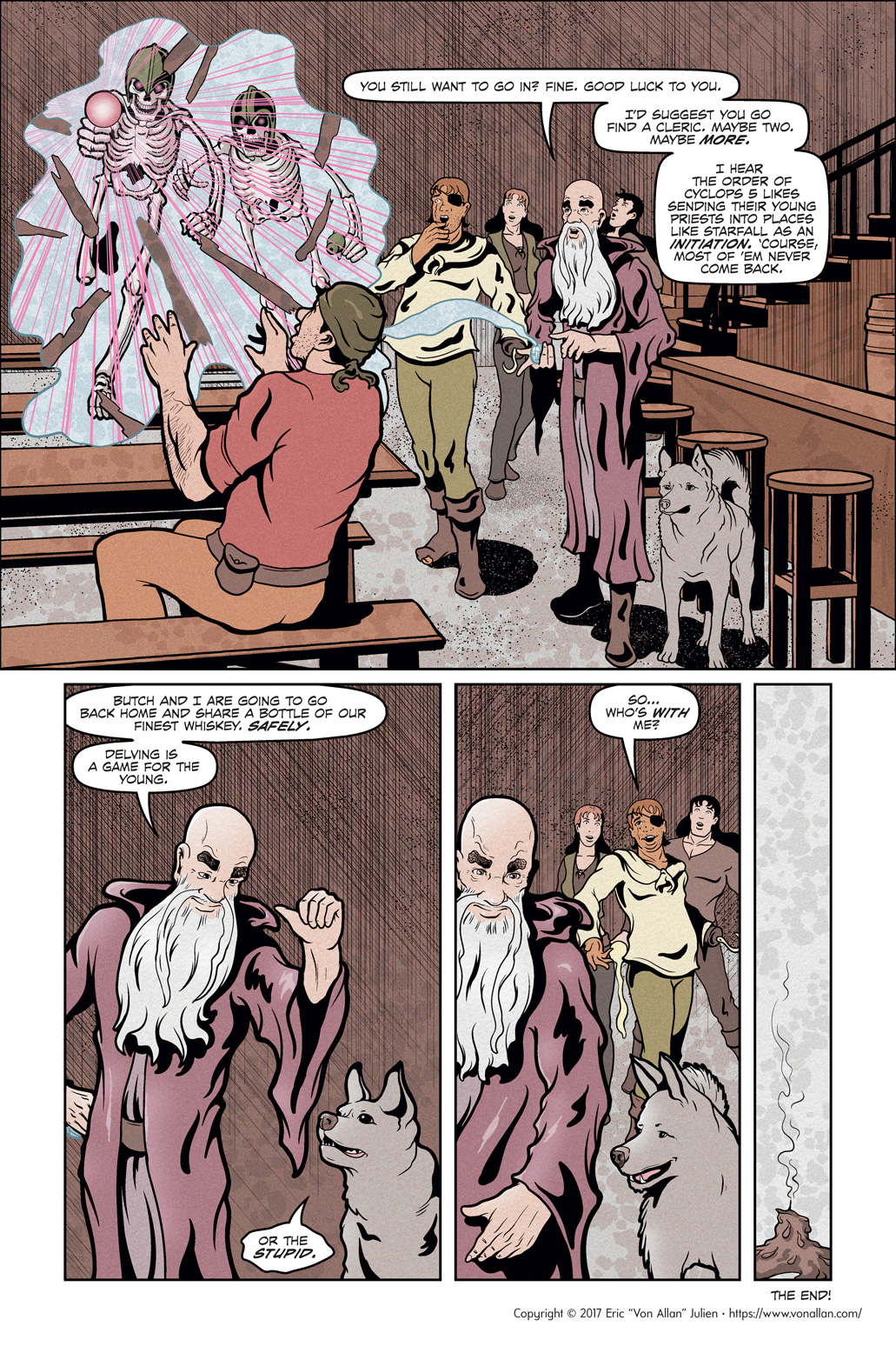 Page eight of the comic book short story Total Party Kill written and illustrated by Von Allan