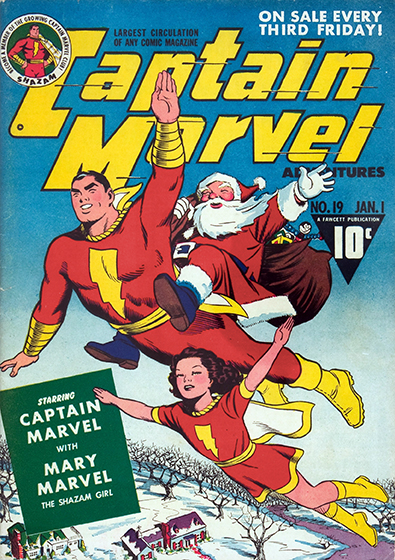 Cover to Captain Marvel Adventures #19 by Marc Swayze